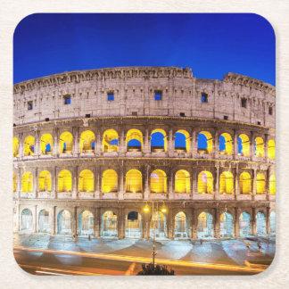 Colosseum Romanum per Orarium Square Paper Coaster