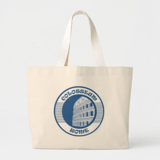 COLOSSEUM ROME BLUE CANVAS BAG