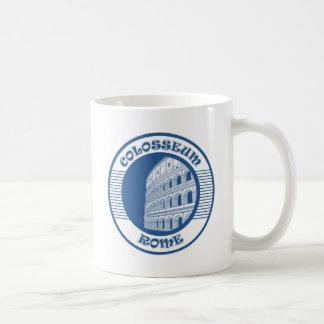 COLOSSEUM ROME BLUE CLASSIC WHITE COFFEE MUG