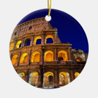 Colosseum Rome Double-Sided Ceramic Round Christmas Ornament