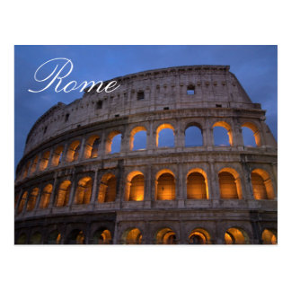 Colosseum Rome Italian Travel Photo Postcard