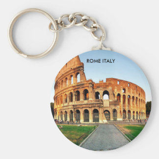 COLOSSEUM, ROME ITALY BASIC ROUND BUTTON KEYCHAIN