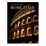 colosseum rome italy post card