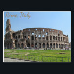 """Colosseum. Rome, Italy Postcard<br><div class=""""desc"""">At the city center of Rome lies one of the most breathtaking views... The Colosseum. The Colosseum was built between 72 AD and 80 AD, and is the largest amphitheater ever built! Here an average of 65, 000 spectators would come to watch the gladiators fight. Masterfully designed and built, it...</div>"""