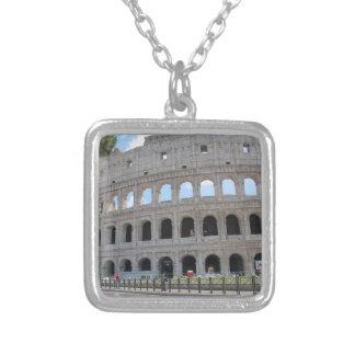 Colosseum Rome On! Square Pendant Necklace