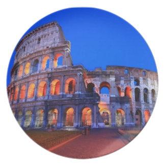 Colosseum Rome Dinner Plates