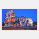 Colosseum Rome Rectangle Sticker