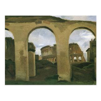 Colosseum Seen through the Arcades in Rome, Italy Postcard