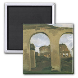 Colosseum Seen through the Arcades, Rome, Italy 2 Inch Square Magnet