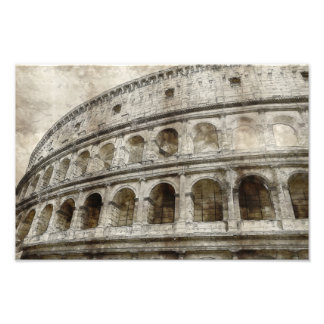Colosseum sepia drawing photographic print