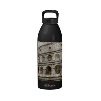 Colosseum sepia drawing reusable water bottles