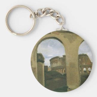Colosseum visto a través de las arcadas, Roma, Llavero Redondo Tipo Pin