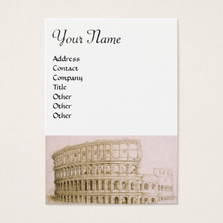 COLOSSEUM ,white brown Business Card