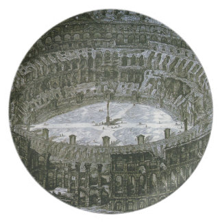 Colosseum with Stations of the Cross by Giovanni Melamine Plate