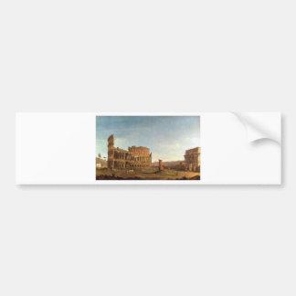 Colosseum y arco de Constantina (Roma) Pegatina Para Auto