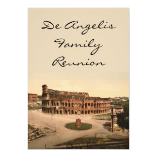 """Colosseum y meta Sudans, Roma, Italia Invitación 5"""" X 7"""""""