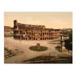 Colosseum y meta Sudans, Roma, Italia Tarjeta Postal