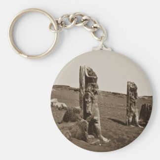Colossi and Sphynx at Wady Saboua, Nubia Francis F Key Chain