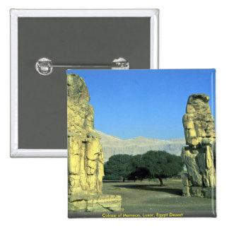Colossi of Memnon, Luxor, Egypt Desert Pinback Button