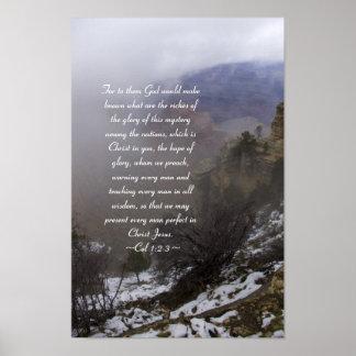 Colossians 1:2-3 Poster