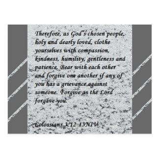 Colossians 3:12-13 Scripture Post Card