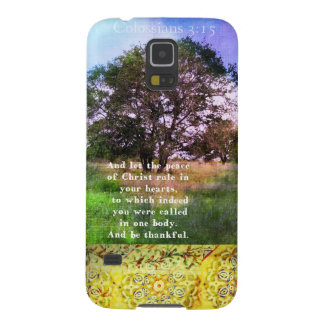 Colossians 3:15 Inspirational Bible Verse Galaxy S5 Case