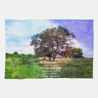 Colossians 3:15 Inspirational Bible Verse Kitchen Towels