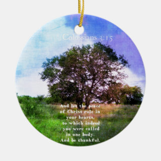 Colossians 3:15 Inspirational Bible Verse Ornament