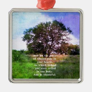 Colossians 3:15 Inspirational Bible Verse Ornaments