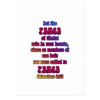 Colossians 3:15 postcard