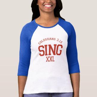 Colossians 3:16 Sing Ladies' Baseball Jersey T-Shirt