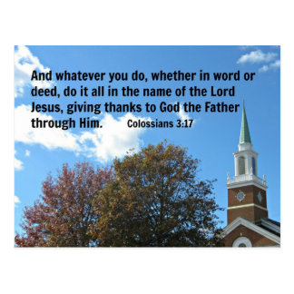 Colossians 3:17 And whatever you do, whether... Postcard