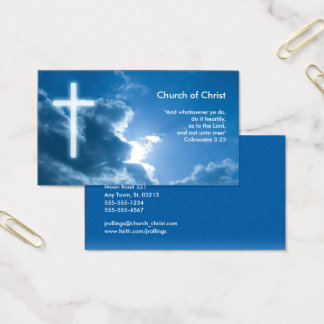 Colossians 3;23 | Blue Business Card