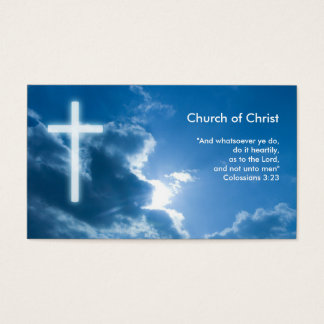 Colossians 3;23   Blue Business Card