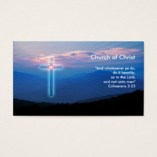 Colossians 3; 23   Christian Inspirational Business Card