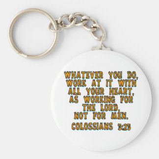 Colossians 3:23 keychain