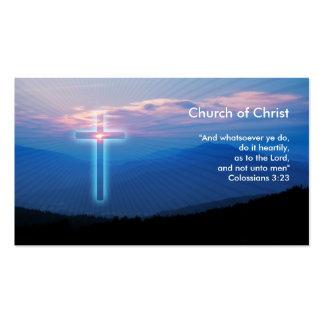 Colossians 3 23 - Tarjeta de visita cristiana