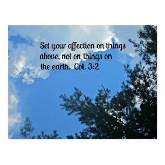Colossians 3:2 postcard