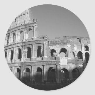 Colossium black and white classic round sticker