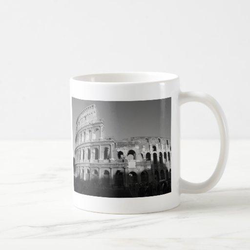 Colossium black and white classic white coffee mug