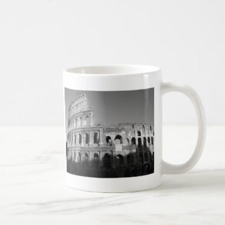 Colossium black and white coffee mug