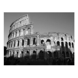 Colossium black and white postcard
