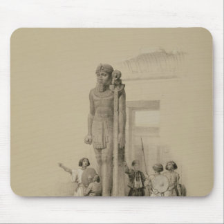 Colossus in front of the Temple of Wady Sabona Mouse Pad