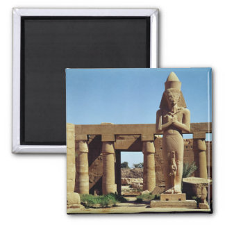Colossus of Ramesses II: standing statue of 2 Inch Square Magnet