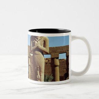 Colossus of Ramesses II: standing statue of Two-Tone Coffee Mug