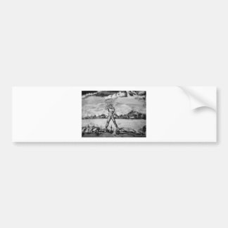 Colossus of Rhodes Black and White Bumper Stickers