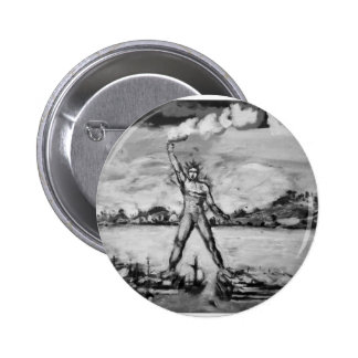 Colossus of Rhodes Black and White 2 Inch Round Button