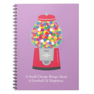 Colouful Gumball Machine Quote on Change Notebook