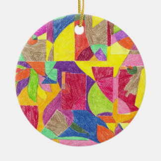 Colour Abstractions Ceramic Ornament