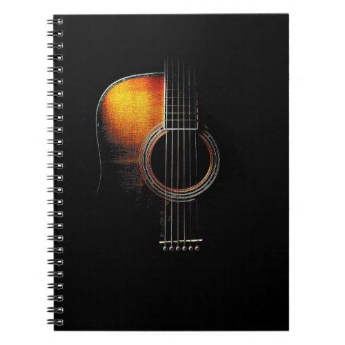 Colour Acoustic Guitar Design Guitarists Notebook